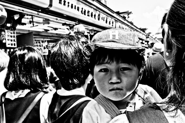 Tokyo Close up of a child at Asakusa. Street photography by Victor Borst